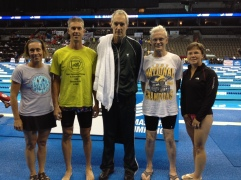 2012 USMS Nationals, Omaha, NE. Carie O'Banion, Brent Tininenko, Doug Martin, Dave Gillanders, Lori Terlouw.