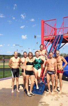 2012 Labor Day Swim in Bentonville. Jeff Wilson, Scott Halliburton, Deb Spencer, Whitney Sutherland, Carie O'Banion, Brent Tininenko, Jeff Spencer.