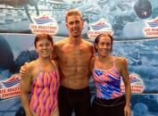 2012, July, USMS Nationals, Omaha, NE. Lori Terlous, Brent Tininenko, Carie O'Banion