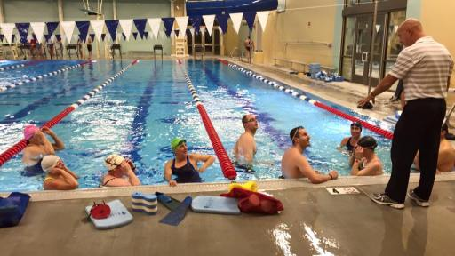 2016, Jan. USMS Stroke Clinic with Bill Brenner
