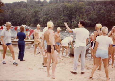 1st Annual Mile Lake Swim - 11 Sep 1982 - Lakewood Lake #1, N. Little Rock