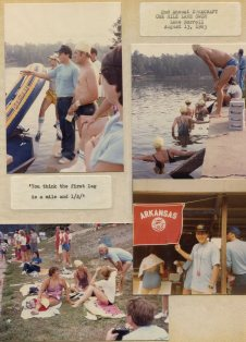 2nd Annual Duracraft One Mile Lake Swim - Lake Norell - 13 Aug 1983