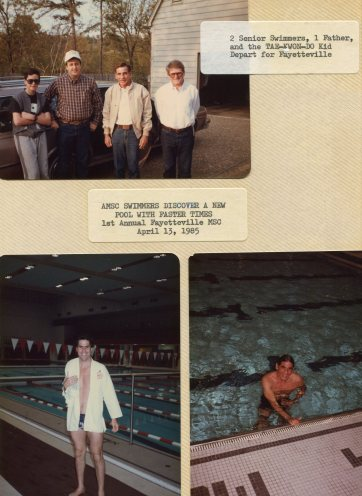 1st Annual Fayetteville MSC - 13 Apr 1985. Top Photo L-R Justin Bank, Ron Bank ,Larry Meyer, Barry Lawrence
