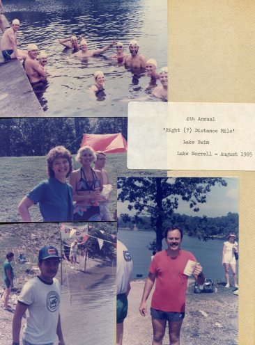 4th Annual 'Right Distance Mile' Lake Swim - Lake Norrell - Aug 1985