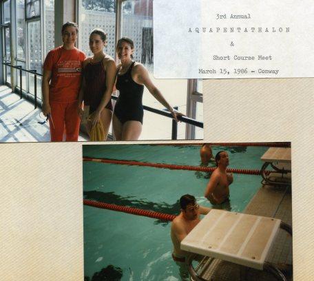 3rd Annual Aquapentathalon & Short Course Meet - Conway, AR - 15 Mar 1986