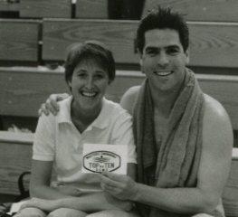 Region VIII Championships - Fayetteville, Arkansas - 4-5 Apr 1987 - Top 10 Swimmer Marvin Schwartz