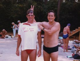 Nationals - Woodlands, Texas - 1987 - Doug Rawn and Ron Bank. Doug joining the Beat Ron Bank Club