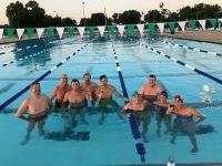 2018, July. Swim for Donuts! Byron Shefchik, Dan Stoecklein, Jim Sellers, Marc Campbell, Dane Baldini, Kyla Templeton, Rick Gerhardt, Julie Sakalares, Carie O'Banion