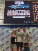 2018 Summer Pan Am Masters Nationals in Orlando, Florida. Carolyn Hyink, Marvin Schwarts, and Rinaldo SIntjago.
